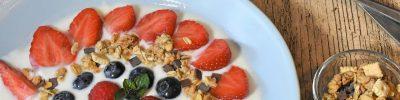 yogurt, bowl, breakfast